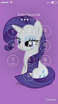 Pony Sketch ART Screen Lock screenshot 1