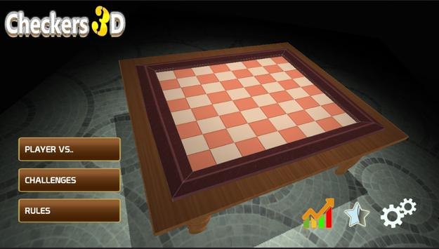 Checkers : Checkers 3D Board Strategic Game Free poster