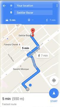 GPS Route Finder Exact apk screenshot