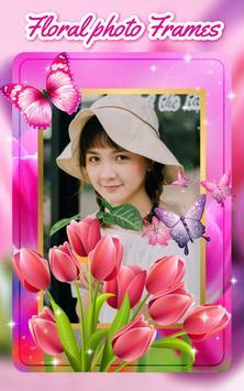 Floral photo Frames poster