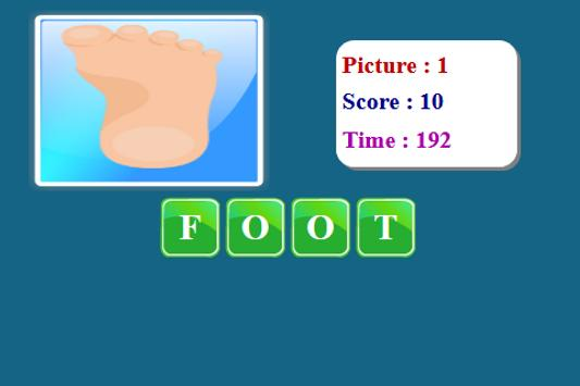 Human Body Spelling Game screenshot 13