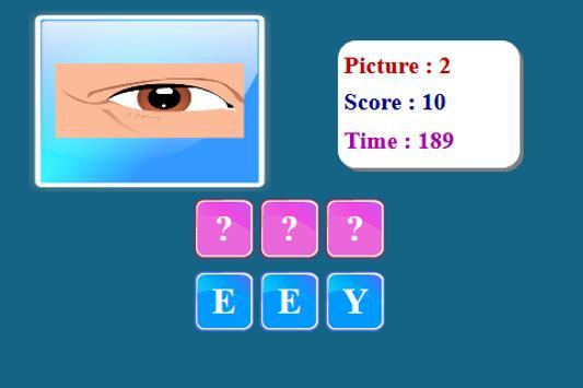 Human Body Spelling Game screenshot 23