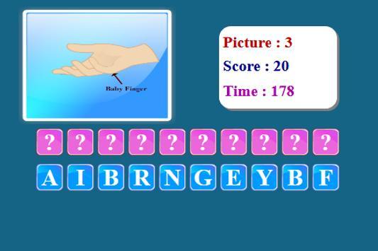 Human Body Spelling Game screenshot 20