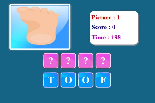 Human Body Spelling Game screenshot 21