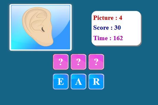 Human Body Spelling Game screenshot 2