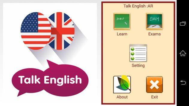 Talk English poster