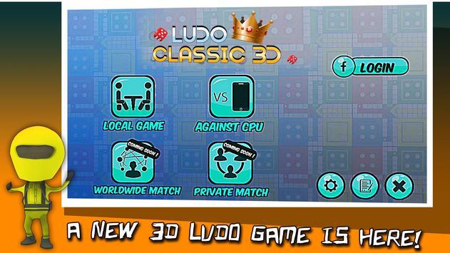 Ludo Classic 3D Board King 2018 screenshot 3
