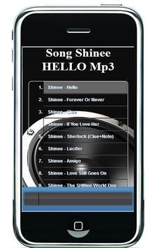 HELLO Song Shinee Mp3 apk screenshot