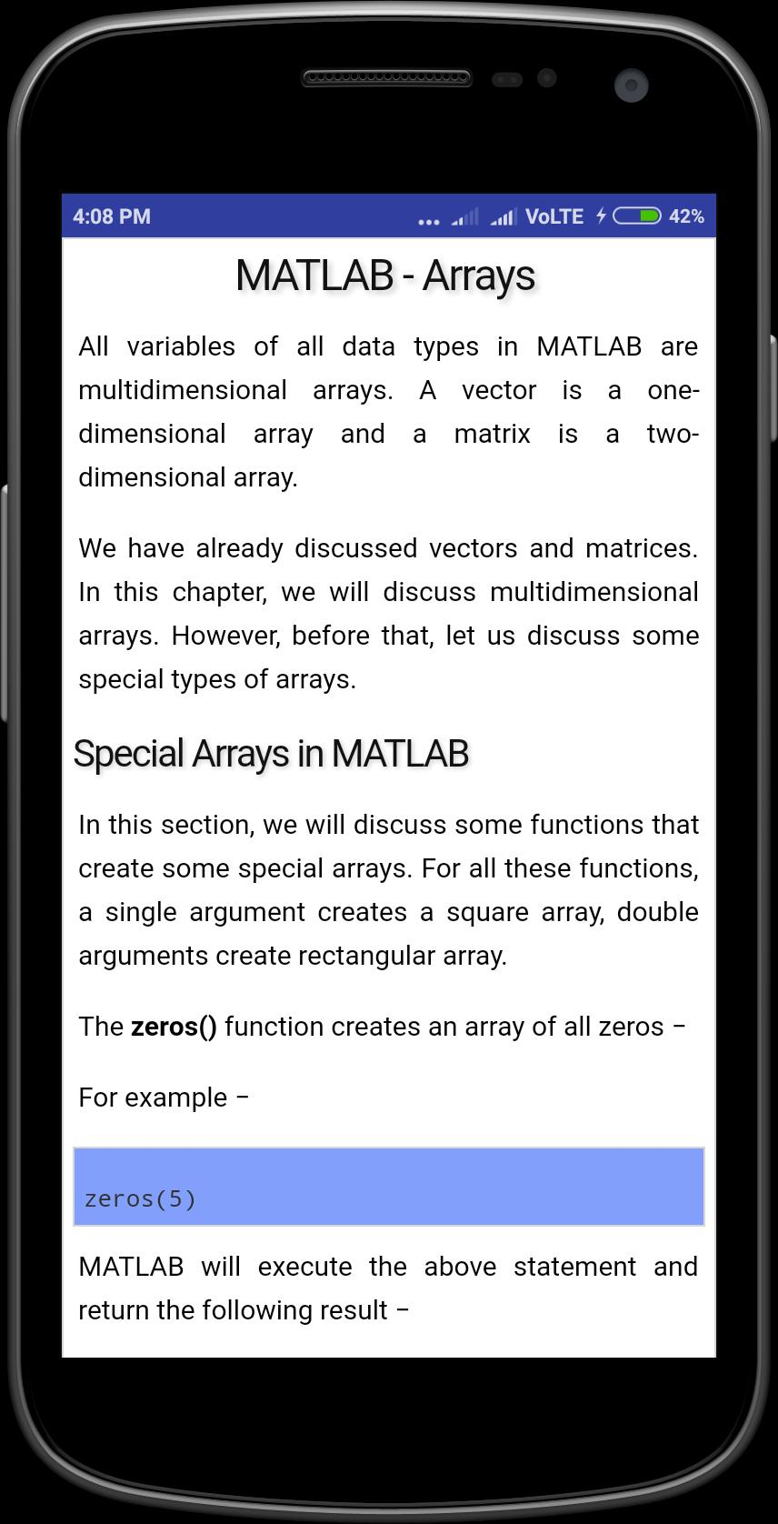 Matlab Tutorial for Android - APK Download