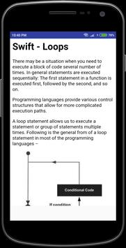 Swift Tutorial apk screenshot