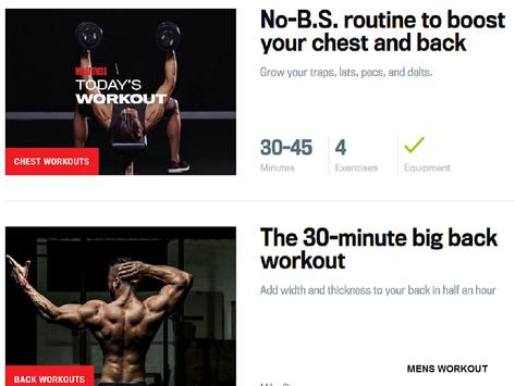 DAILY MENS WORKOUT apk screenshot