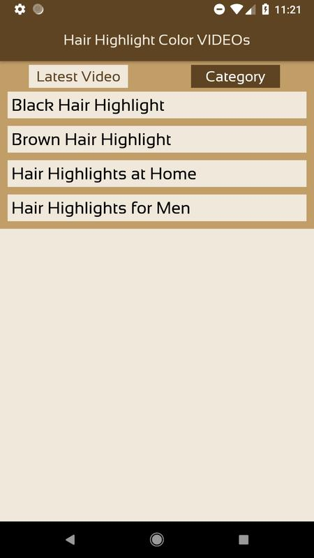 Hair Highlight Color Videos Apkhair Highlight Color Videos