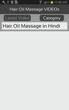 Hair Oil Massage VIDEOs apk screenshot