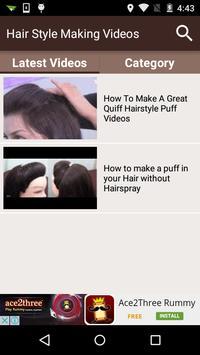 Hair Style Making Videos screenshot 1
