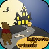Winnie The halloween bear icon