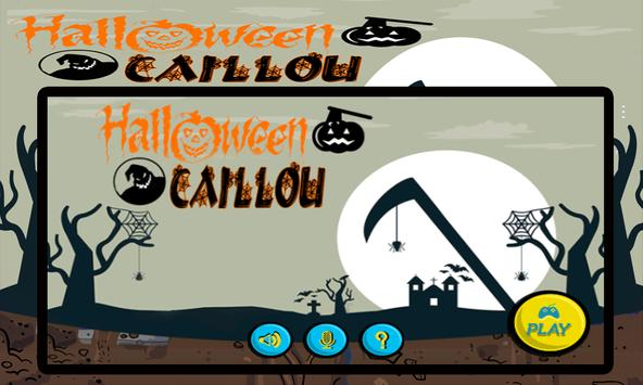 Halloween Caillou Time poster