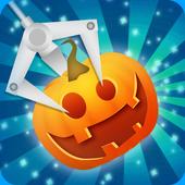 Halloween claw machine game icon
