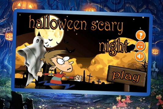 Scary halloween night poster