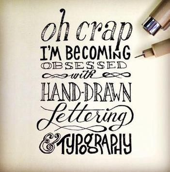Hand Drawn Lettering poster