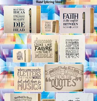 Hand Lettering Ideas poster