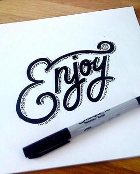 Hand Lettering Ideas apk screenshot