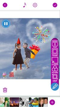Happy Birthday Video Maker With Song And Photos screenshot 1