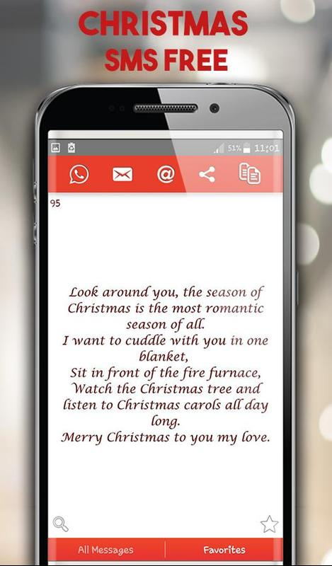 Happy Merry Christmas Wishes SMS - Xmas Messages for Android - APK ...