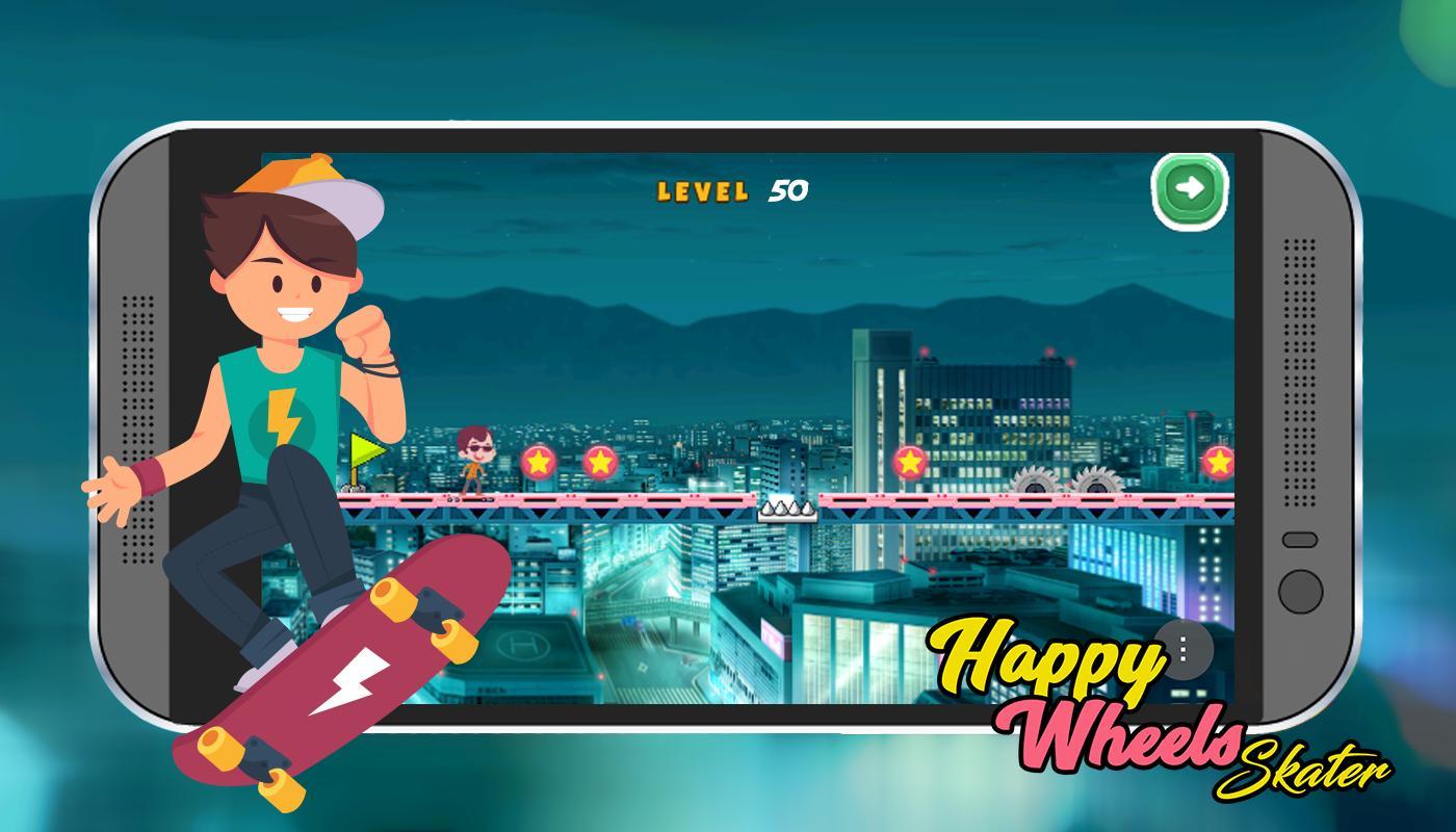 Happy Wheels skater poster