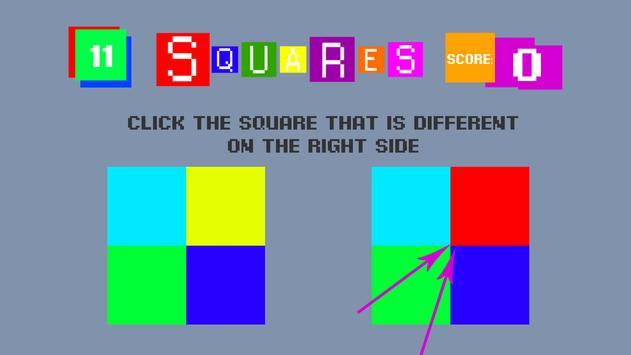 Squares 2D poster