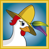 Chicken with hat icon