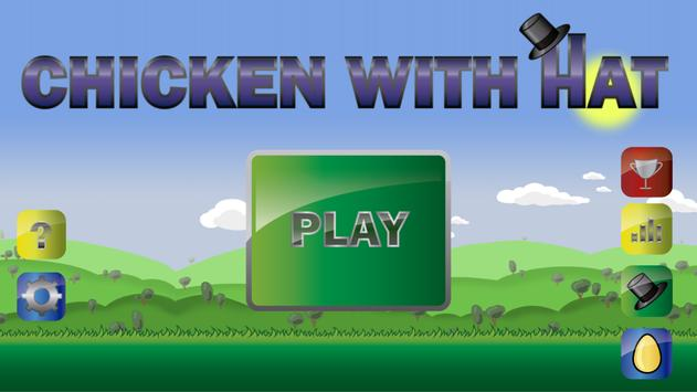 Chicken with hat poster