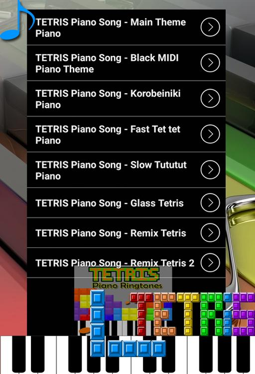 Tetris Piano Ringtones for Android - APK Download
