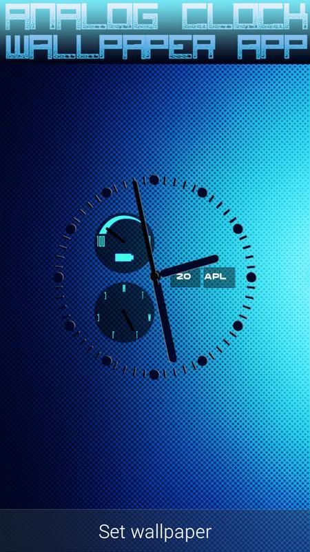 ... Analog Clock Wallpaper App screenshot 4 ...