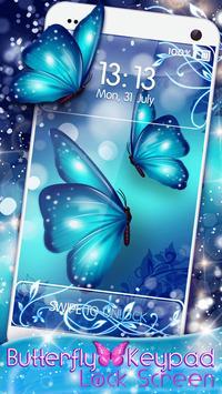 Butterfly Keypad Lock Screen poster