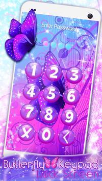 Butterfly Keypad Lock Screen screenshot 1