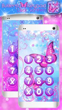 Butterfly Keypad Lock Screen screenshot 2