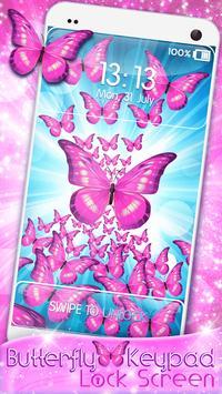 Butterfly Keypad Lock Screen screenshot 7