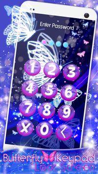 Butterfly Keypad Lock Screen screenshot 5