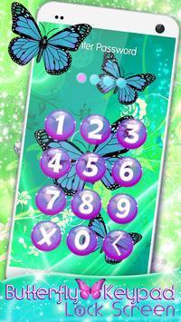 Butterfly Keypad Lock Screen screenshot 6