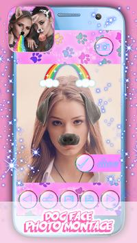 Dog Face Photo Montage poster
