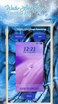Water Lock Screen Passcode App apk screenshot