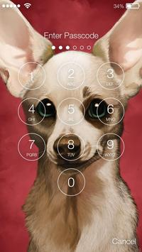 Chihuahua Dog Little Cute Puppy HD Wallpaper Lock screenshot 1