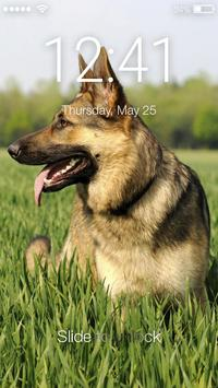 Dog German Shepherd Puppy Wallpaper HD Sceen Lock poster