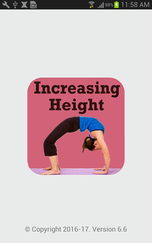 Height Increasing Exercise App Poster