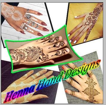 Henna Hand Design poster