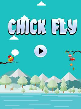 Fly Up Christmas Chick poster