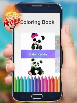 Baby Panda Coloring poster