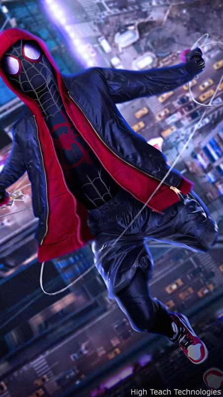 Spiderman Into The Spider Verse Live Wallpaper Pour Android