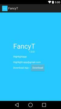 FancyT -Text Generator poster