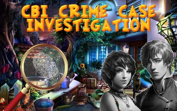CBI Crime Case : Hidden Objects Game 100 Level poster